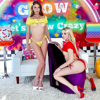 Lily Larimar and Macy Meadows having a threeway