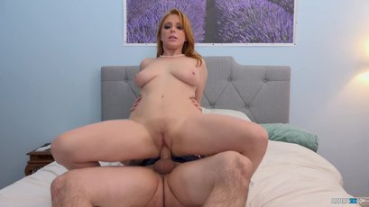 Redhead landlady Penny Pax accepts cock for rent