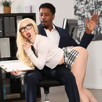 Kenzie Reeves fucks her hung black co-worker