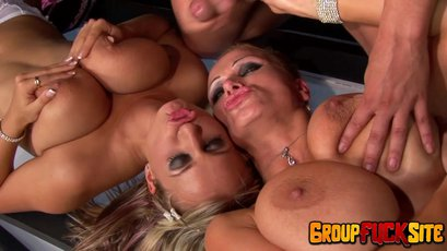 Sharon Pink and her friends having fun with cocks