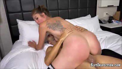 Hottie Leah Winters fucked hard after interview