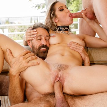 Alina Lopez ruined with two big dicks at once
