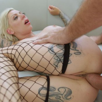 Busty babe Karma Rx takes a huge hard cock up her ass