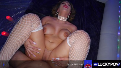 Busty Valentina Jewels sucks and rides cock in pov