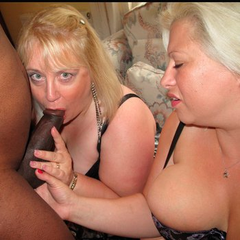 Two Busty Babes sharing the same Cock