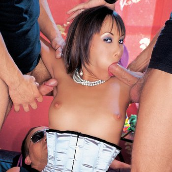 Katsuni gets triple fucked at her birthday party
