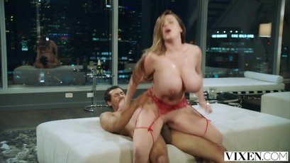 Big titted MILF Sophie Dee fucked hard after giving a hot footjob