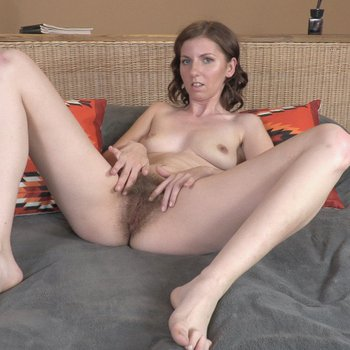 Sexy Sonia Best showing off her hairy pussy