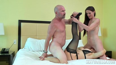 Stepmom Sexy Vanessa shares cock with Sofie Marie