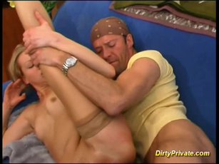 Amazing blonde cupcake in anal action