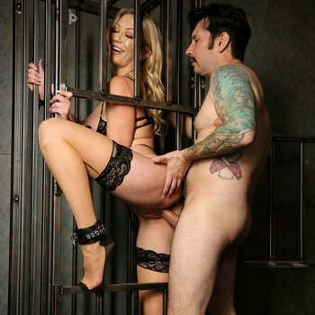 Adira Allure cums out of her cage to play