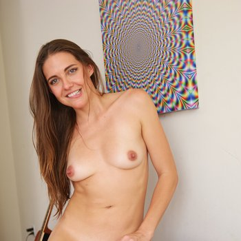 Skinny dude sticks his tounge and cock in Sadie Holmes