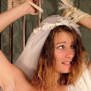 Distressed Jo May gets tied to Bars on her wedding Day