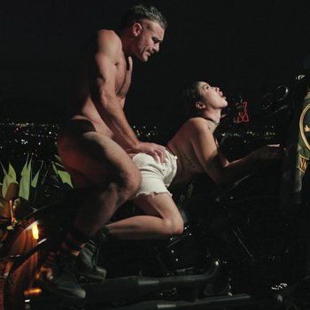 Vanessa Sky gets her pussy screwed on a motorcycle