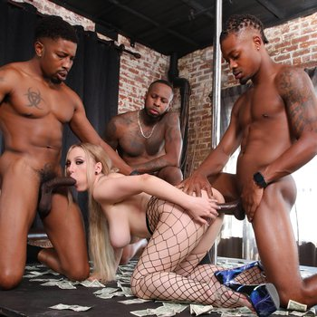 Naughty Skylar Vox wants more than one black cock