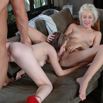 Lexi Belle shares big cock with Kimberly Kane