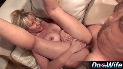 Horny milf gets screwed in front of her husband
