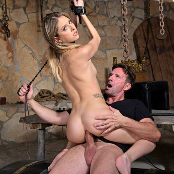 Rebecca Volpetti has asshole destroyed in bdsm dungeon fuck session