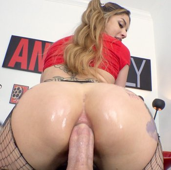 Horny Vanessa Vega sits her bubble ass on a hard dong
