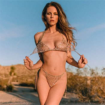 Ora Young shimmering in the middle of the desert