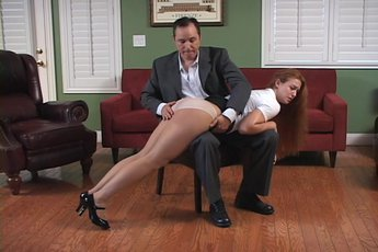 Arthur and Cheyenne have enjoyed in spanking action