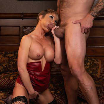 Gorgeous woman with big breasts enjoys good fuck