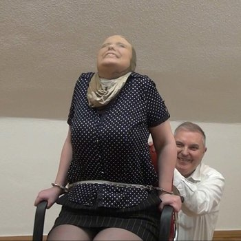 Kinky housewife tied to the chair and tickled
