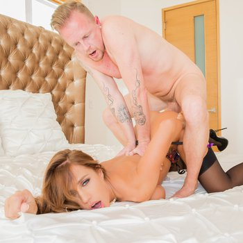 Gorgeous Vivian Azure goes wild with fat cock
