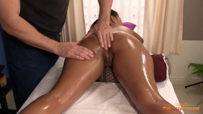 Asian chick Ittiporn oiled up good and fucked