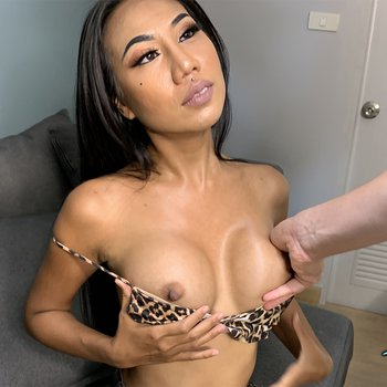 Thai prostitute with fake boobs is nailed in POV