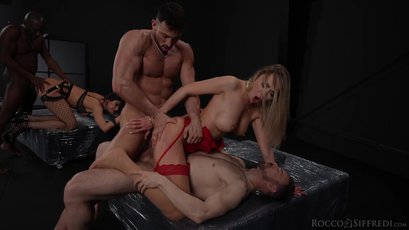 Kitana Lure, Venera Maxima and two boys friend in amazing orgy action