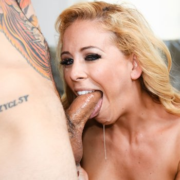 Cherie DeVille can't get enough of cock in mouth