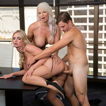 London River and Rachael Cavalli have hot threesome in the office