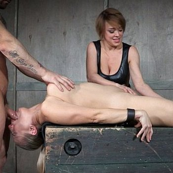 Angel Allwood huge tits blonde helpless bound and mouth fucked