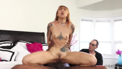 Asian Kimberly Chi use BBC in front of her husband