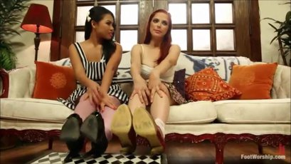 Hot Penny Pax shares a huge dick with her dirty GF
