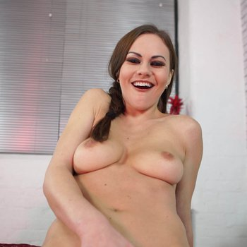 Tina Kay playing with her shaved pussy and a toy