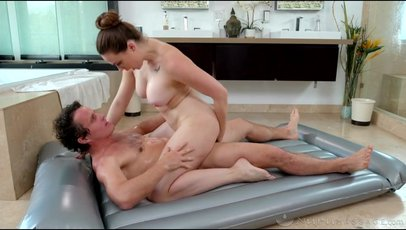 Horny Chanel Preston oils up and rides a hard dick