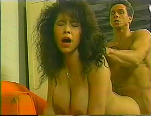 Big areolas curly haired Viviana Hughes bounces huge tits in doggy style
