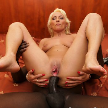 Mature blonde girl takes a BBC in her asshole