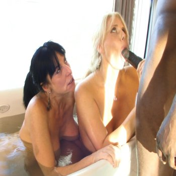 Karen Fisher and a hot MILF sharing a BBC