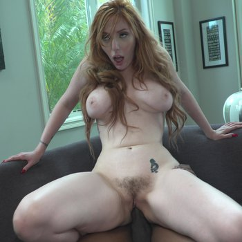 Lauren Phillips sits her ginger pussy on a BBC