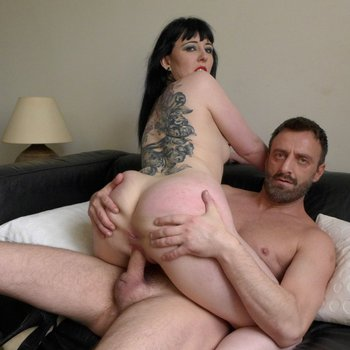 Sexy Cleo mounts a cock on the couch