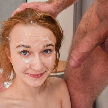 Sweetie Plum gives head and gets facialized