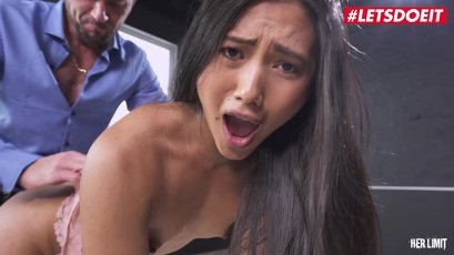 May Thai receives a huge dong deep into her ass