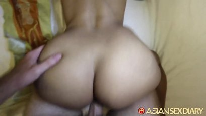 Asian milf gets her ass pipe drilled