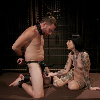 Charlotte Sartre indulges in male slave torment
