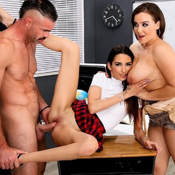 Natasha Nice gets fucked hard in hot threesome