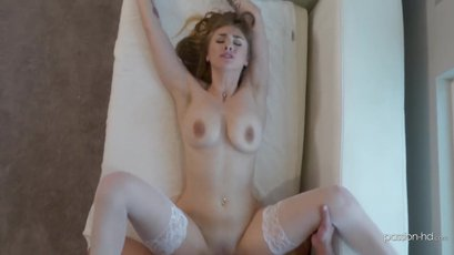 Busty Angel Youngs sucks & fucks after the shower