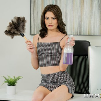 Filthy Kendall Rae sweating, cleaning and cheating